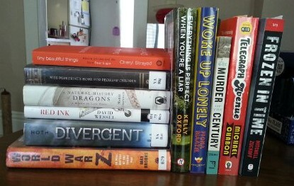 spring 2013 readathon book pile