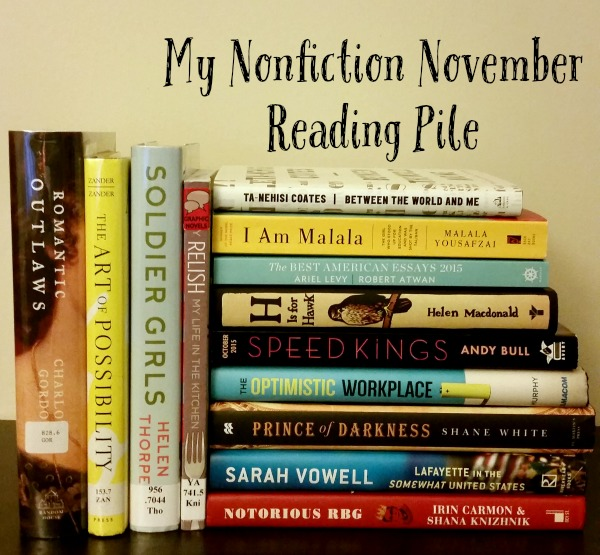 nonfiction november reading pile