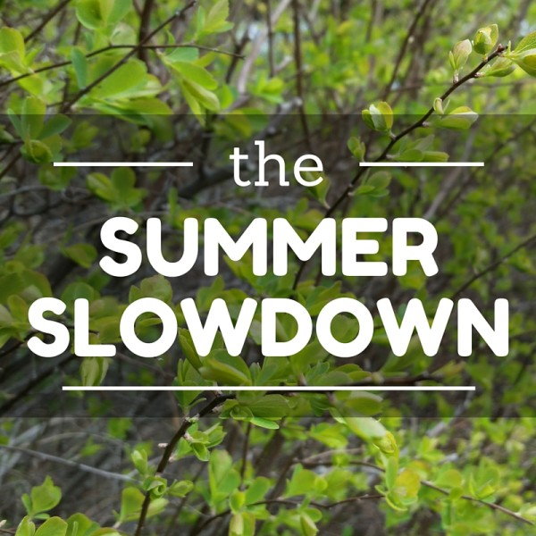 the summer slowdown